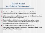 martin walser political correctness