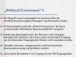 political correctness i