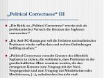 political correctness iii