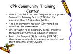 cpr community training center