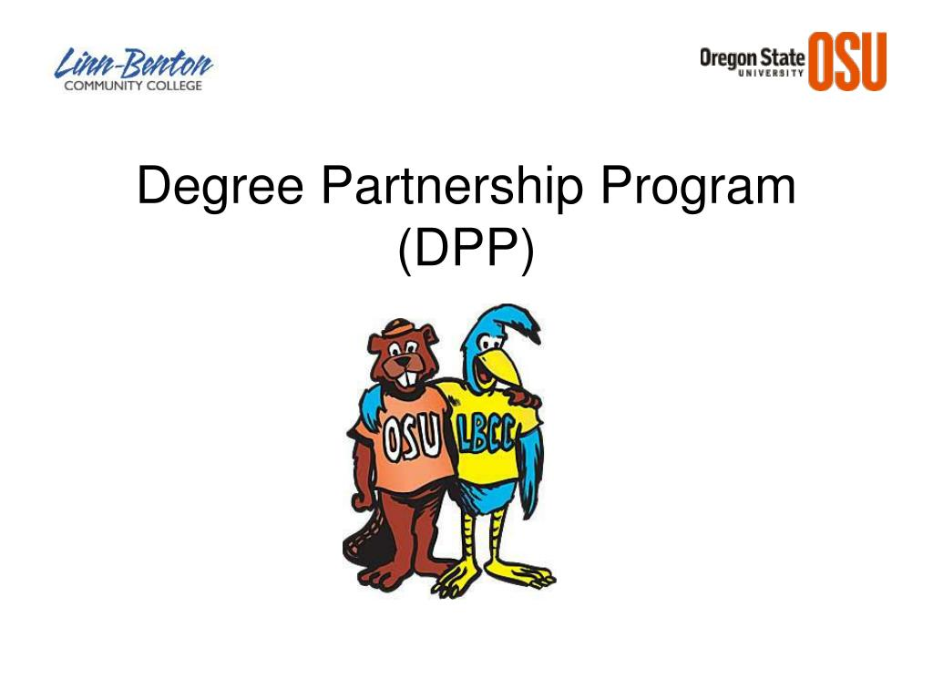 degree partnership program dpp l.