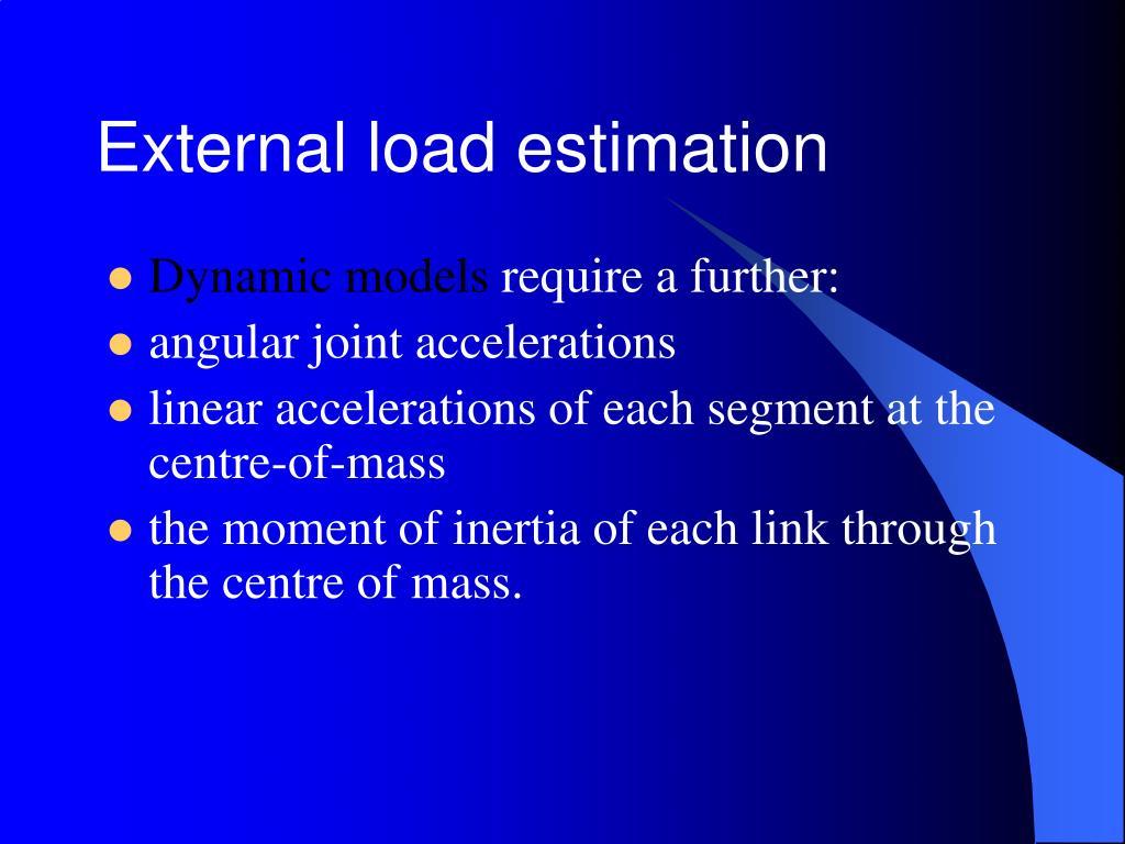 External load estimation