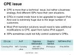 cpe issue