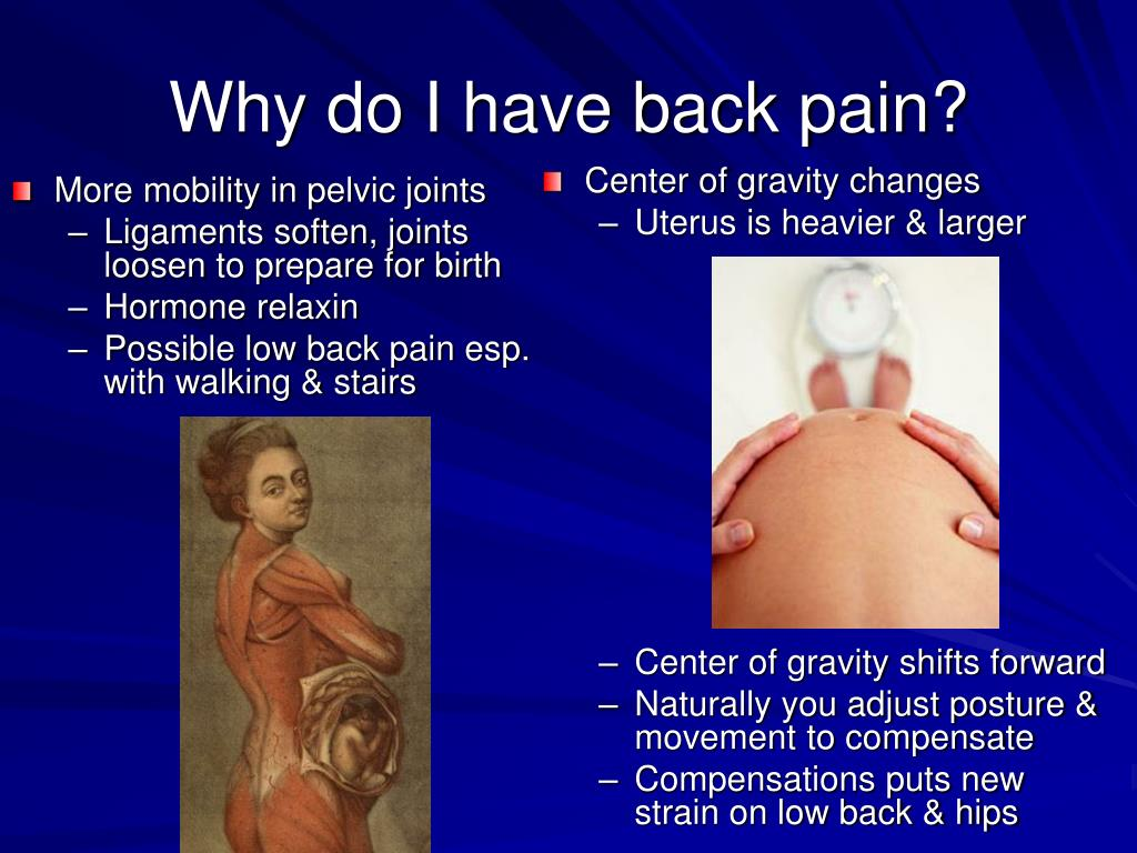 More mobility in pelvic joints