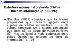 estrutura argumental preferida eap e fluxo de informa o p 193 196