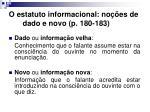 o estatuto informacional no es de dado e novo p 180 183