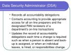 data security administrator dsa