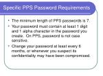 specific pps password requirements