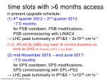 t ime slots with 6 months access