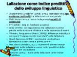 lallazione come indice predittivo dello sviluppo linguistico