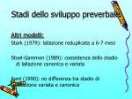 stadi dello sviluppo preverbale