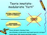 teorie innatiste modulariste forti
