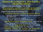 canales de producci n y distribuci n y nuevas tecnolog as