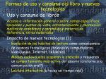 formas de uso y consumo del libro y nuevas tecnolog as
