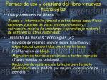 formas de uso y consumo del libro y nuevas tecnolog as1