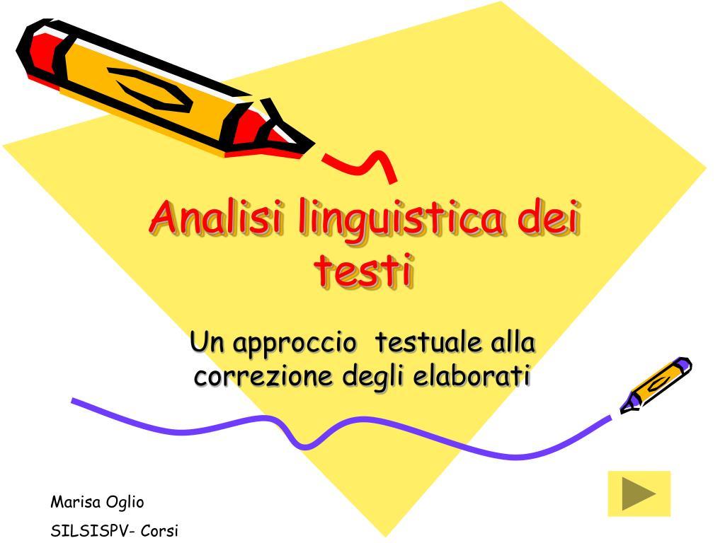 analisi linguistica dei testi l.