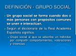 definici n grupo social
