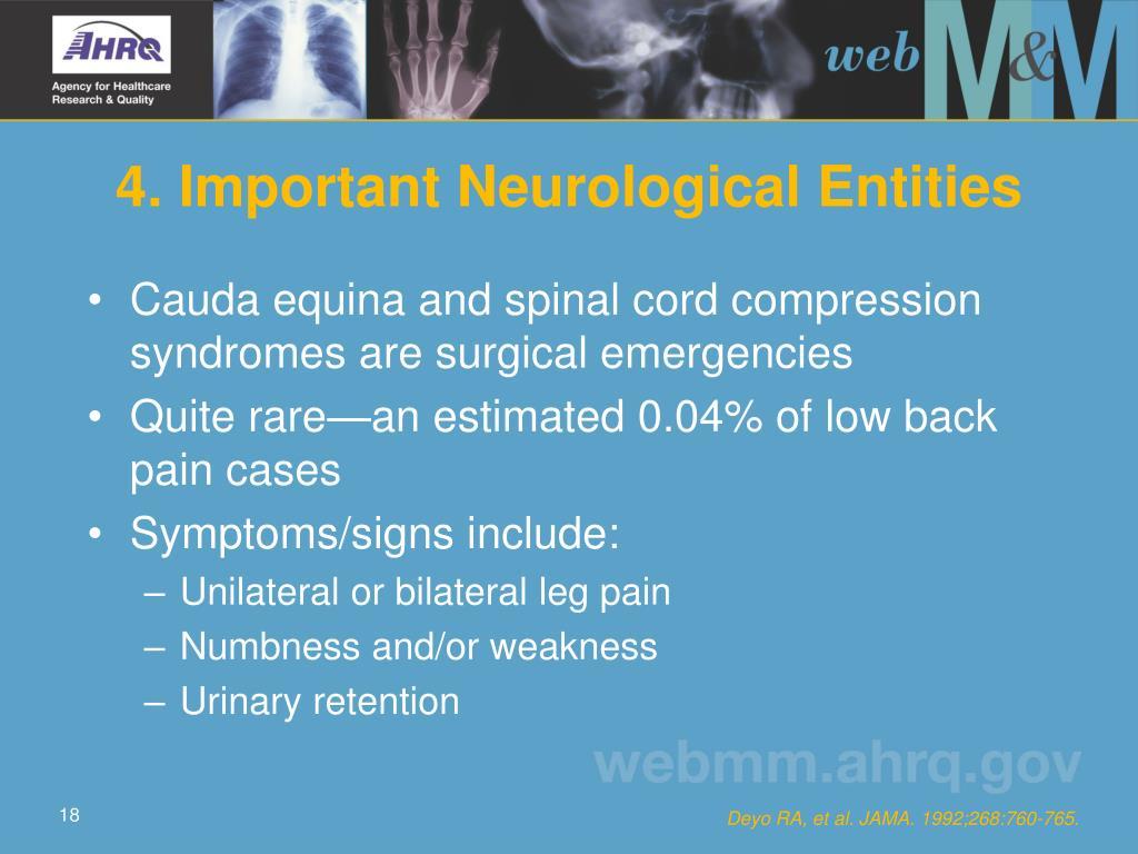 4. Important Neurological Entities