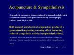 acupuncture sympatholysis