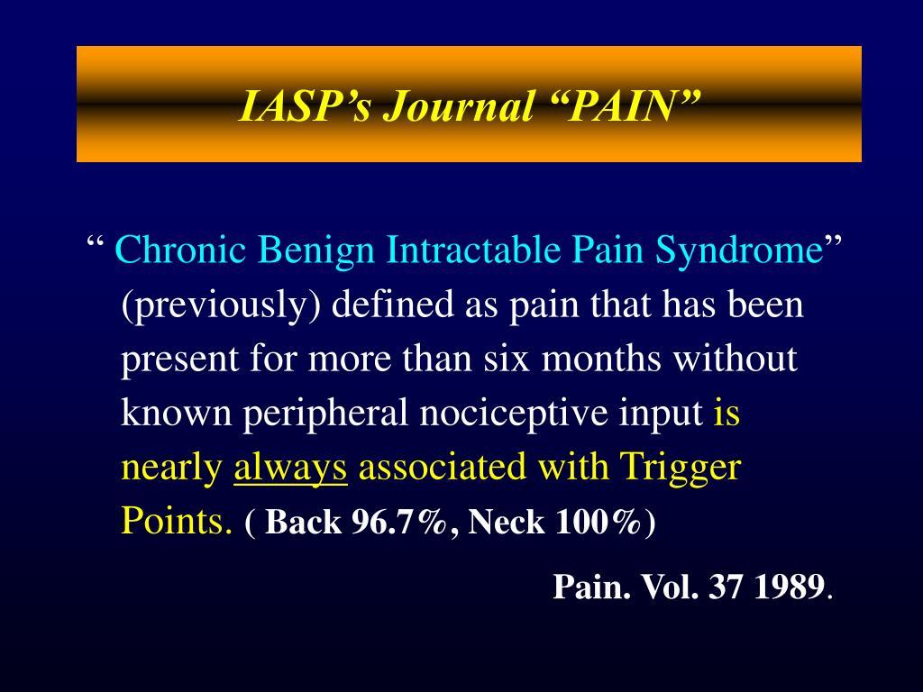 "IASP's Journal ""PAIN"""