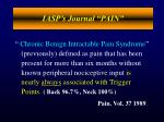 iasp s journal pain