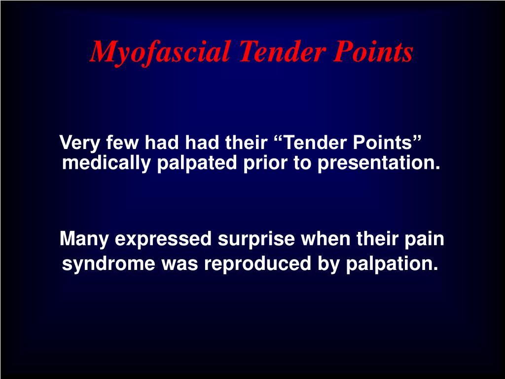 Myofascial Tender Points