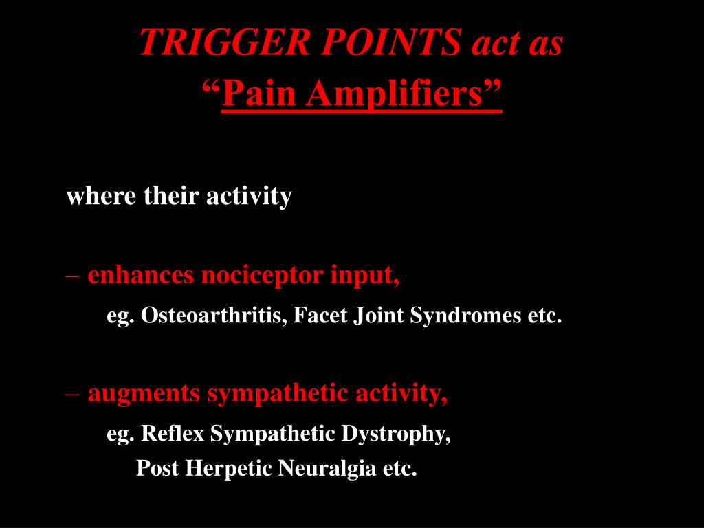 TRIGGER POINTS act as
