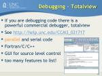 debugging totalview