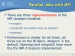 parallel jobs with mpi
