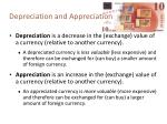 depreciation and appreciation