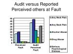 audit versus reported perceived others at fault