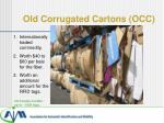old corrugated cartons occ