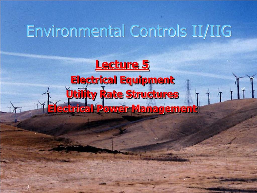 environmental controls ii iig l.