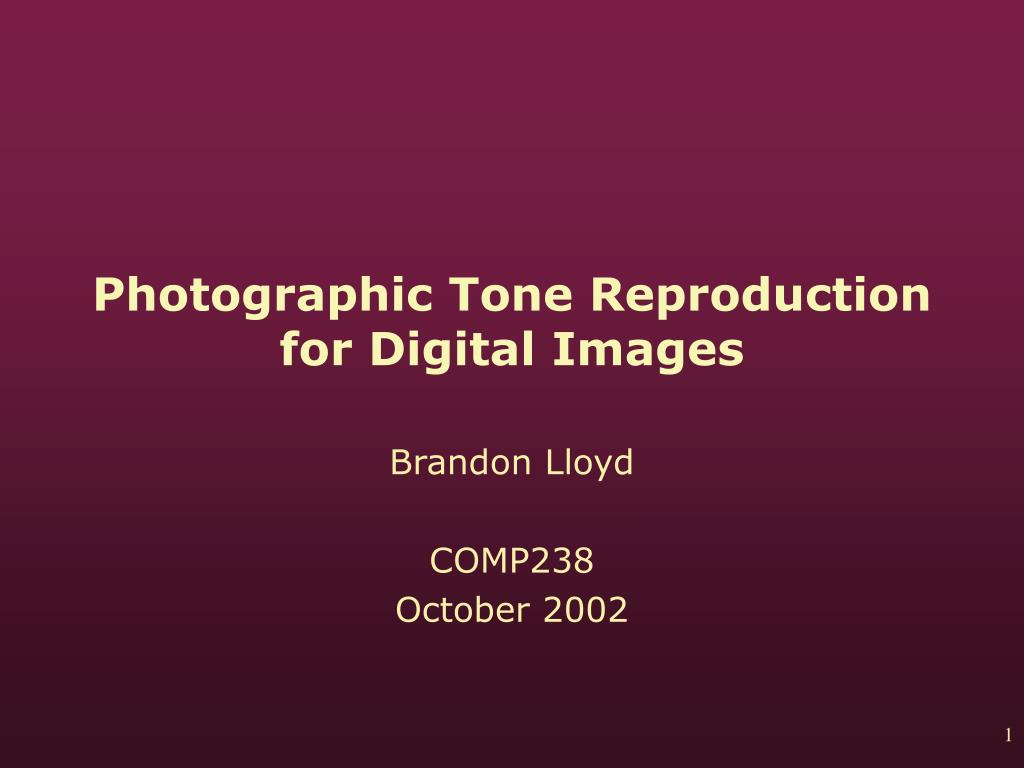 photographic tone reproduction for digital images l.