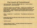 five levels of commitment