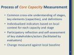process of core capacity measurement