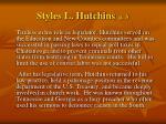 styles l hutchins p 3