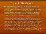 styles l hutchins p 5