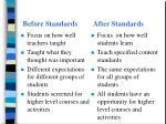 before standards after standards