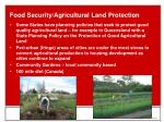 food security agricultural land protection