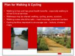 plan for walking cycling
