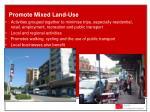promote mixed land use