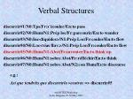 verbal structures