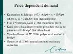 price dependent demand