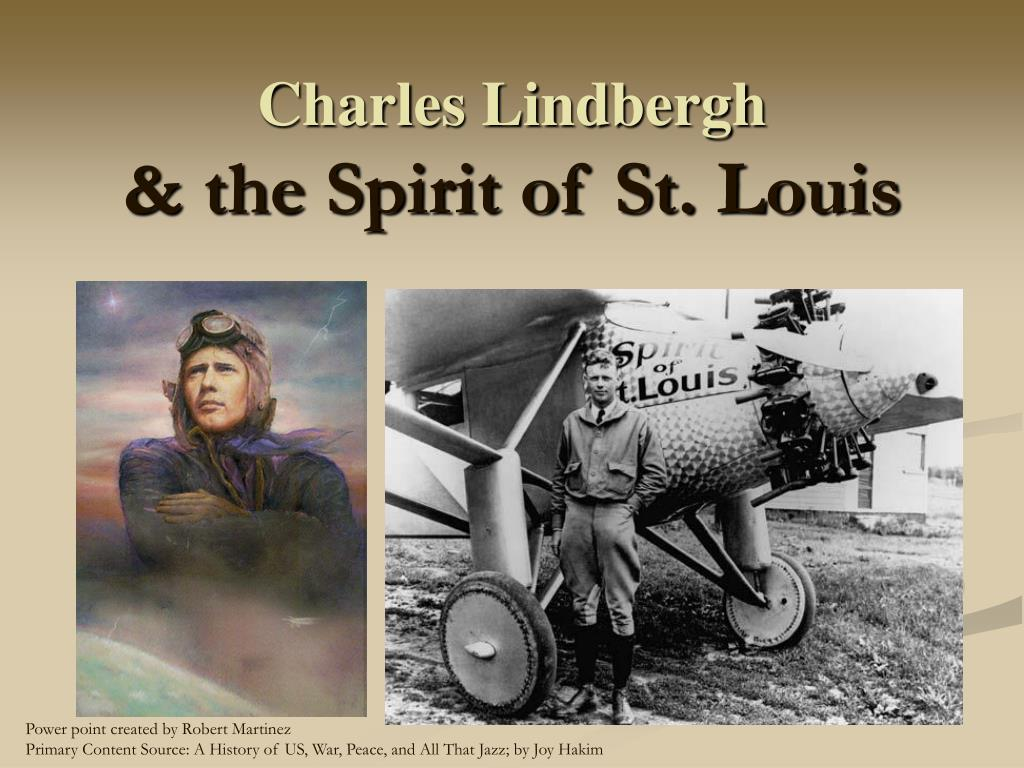 charles lindbergh the spirit of st louis l.
