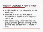 healthy lifestyle a family affair46