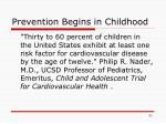 prevention begins in childhood