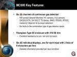 mc600 key features
