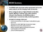 mc600 summary