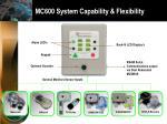 mc600 system capability flexibility